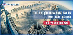 Dubai là một thành phố và đồng thời là một trong bảy tiểu vương quốc của Các Tiểu Vương quốc Ả Rập Thống nhất, nằm ở phía Nam của vịnh Ba Tư thuộc bán đảo Ả Rập. Dubai được chia ra nhiều khu: Burj Dubai , Deira , Karama , Jumeirah , Satwa… trong đó Deira là khu trung tâm tài chính, tập trung các ngân hàng, trụ sở công ty lớn. Burj Dubai, Karama là khu buôn bán sỉ, tập trung các khu chợ truyền thống. Satwa nằm cạnh Jumeirah là khu người trung lưu sinh sống, trong đó Jumeirah là khu vực gần bờ biển. Trong chuyến hành trình đến với Các Tiểu Vương quốc Ả Rập Thống Nhất này, du khách sẽ được tham quan các công trình tuyệt tác do con người tạo nên cũng như vẻ đẹp của nhiên nhiên nơi đây. Tòa nhà cao nhất thế giới là địa điểm mà bất cứ du khách nào cũng phải chiêm ngưỡng khi đến Dubai. Trong chuyến thăm quan tòa tháp kéo dài khoảng 90 phút, bạn sẽ được quan sát toàn cảnh lộng lẫy của thành phố cũng như sa mạc tuyệt đẹp nằm phía xa. Du khách cũng đừng quên nhâm nhi một ly Latte tại các quán cà phê nằm dọc theo Dubai Mall, ngay đối diện với tòa nhà Burj Khalifa. Không sa hoa lộng lẫy như Burj Khalifa, không rộng lớn như công viên Adventure, Wild Wadi... nhưng bảo tàng Dubai chứa đựng nhiều giá trị về lịch sử, văn hóa, sự ra đời của các tiểu vương quốc… Đây sẽ là điểm du lịch tuyệt vời nếu bạn đam mê lịch sử, văn hóa xưa... du khách sẽ được tham quan các khu trưng bày, đồ tạo tác khảo cổ thể hiện văn hóa Ả Rập... giúp bạn hiểu rõ hơn về lối sống và sự phát triển của Dubai trong lịch sử. Đảo Lá Cọ - Đây là 1 quẩn đảo nhân tạo có hình cây cọ lớn nhất thế giới, không chỉ được biết đến là một tuyệt tác kiến trúc của người dân Dubai mà còn là kỳ quan thứ 8 của thế giới. Đây là một trong những nơi không thể bỏ qua khi du lịch tại Dubai. Ở đây tập trung rất nhiều hoạt động như giải trí, mua sắm, ăn uống sang trọng hay tập trung những khách sạn, khu nghỉ dưỡng hiện đại nhất ở Dubai... Muốn khám phá vẻ đẹp tuyệt vời của cụm đảo Palm từ bạn có thể chiêm ngưỡng từ trên cao hoặc tham qua